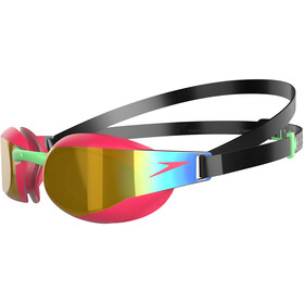 speedo Elite Mirror Goggles Barn black/psycho red/gold